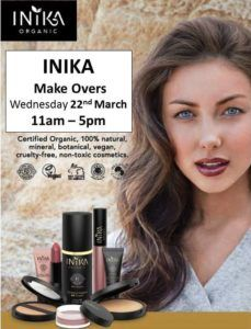 TUESDAY 21st March  FREE 15 minute Hand Massage using Australian Bush Flower products – 10am – 12pm