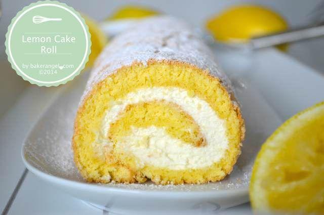 Lemon Cake Roll by bakerangel.com
