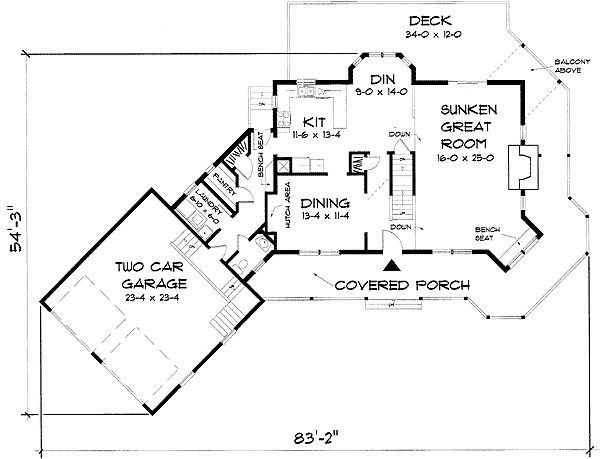Plan 3748TM Victorian Farmhouse