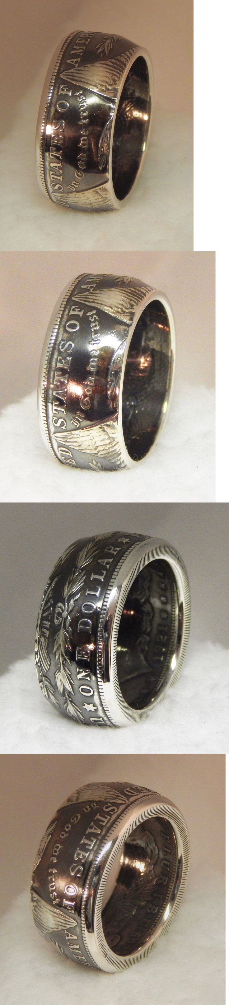 Rings 110666: Beautiful Mens Custom 1921 Morgan Silver Dollar Coin Ring 90% Silver .Size 13 -> BUY IT NOW ONLY: $79 on eBay!