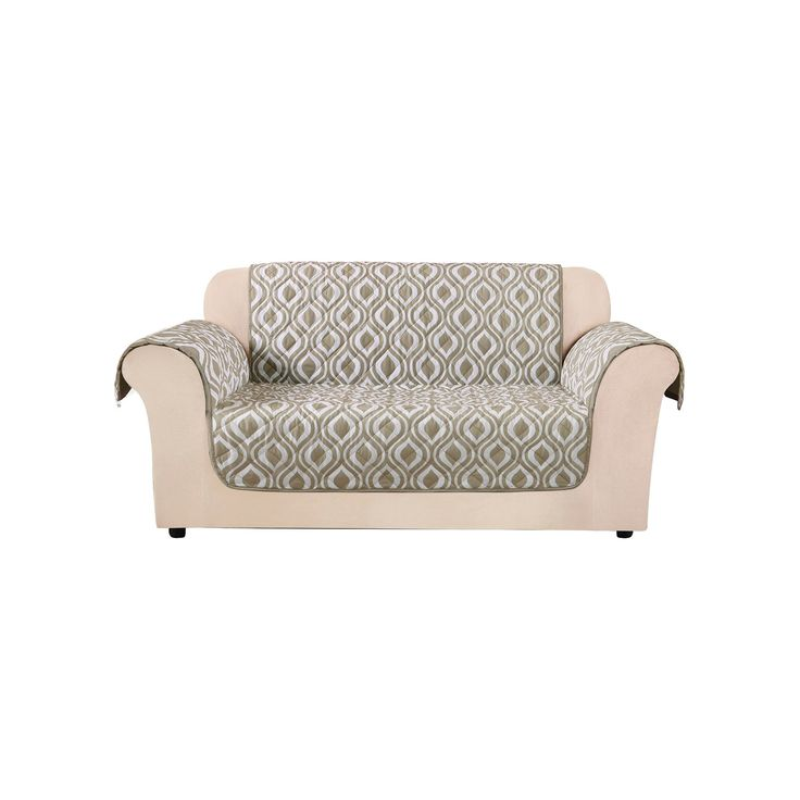 Furniture Flair Ogee Loveseat Cover Tan   Sure Fit