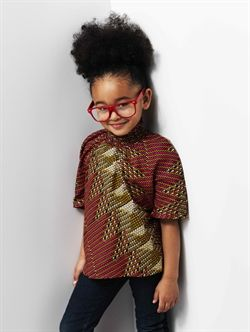 african print girls' top