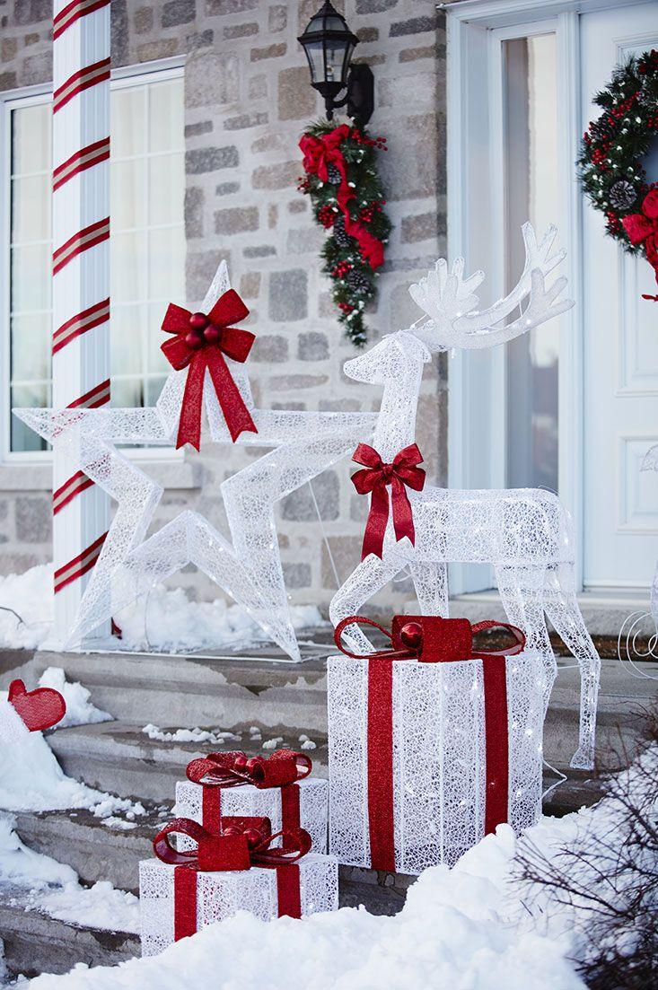Les 61 meilleures images du tableau christmas decor d co - Decorations exterieures de noel ...