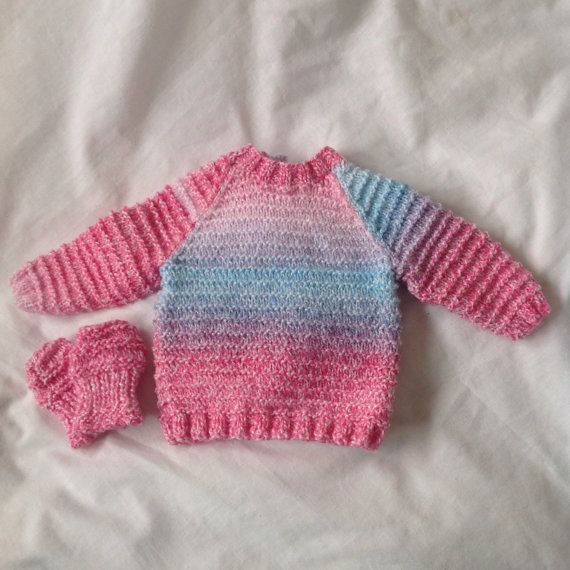 Baby jumper, baby sweater, baby girl, pink baby jumper, knitter baby girl top, new baby present, baby shower, baby winter gift, purple, blue