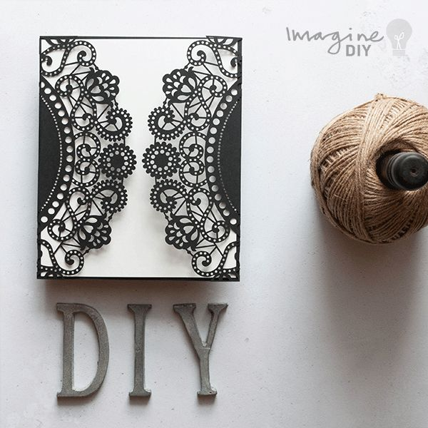 DIY laser cut wedding invitations. Blank laser cut invitation to decorate yourself. Make your own wedding stationery supplies UK
