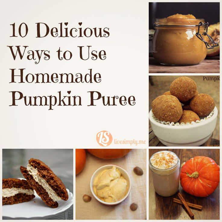 Ten Delicious Ways to Use Homemade Pumpkin Puree. From a better-than-starbucks latte to coffee creamer to cookies and ice cream, this list has all the pumpkin recipes you need!