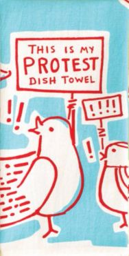 This is My Protest Dish Towel in Red White and Blue – The Bullish Store