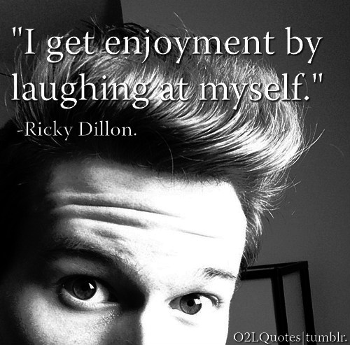 Ricky Dillon(: love his youtube videos.(:
