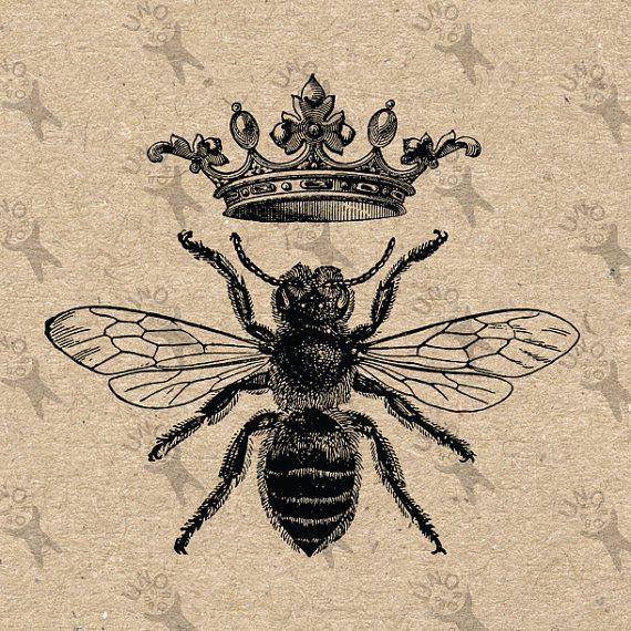 Vintage Queen Honey Bee Www Imgkid Com The Image Kid