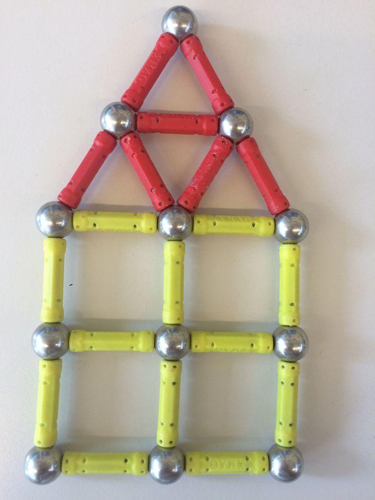 Huisje van magneetjes