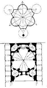 Borromini realizza una costruzione in pianta centrale, predisponendo una pianta esagonale frutto dell'intersezione di due triangoli equilateri. Delle sei cappelle laterali, tre sono semicircolari e le altre tre, giacenti sui vertici del triangolo, ne recuperano la forma. L'effetto che ne deriva è di uno spazio estremamente articolato che assume la forma stellare.