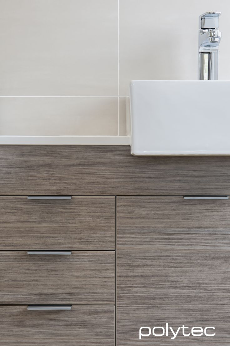 Vanity in polytec MELAMINE Tessuto Milan Matt. & 132 best polytec MELAMINE doors u0026 panels images on Pinterest ...