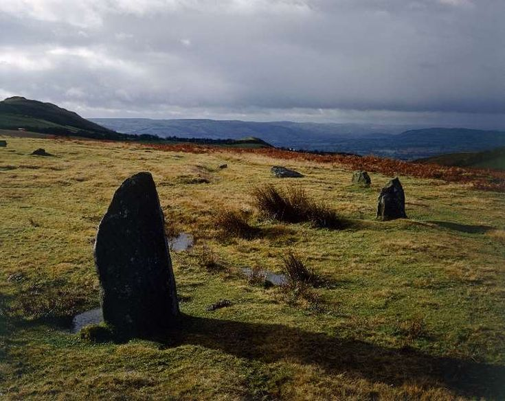 Mitchell's Fold Stone Circle  The focus of many local legends, Mitchell's Fold is a Bronze Age stone circle set in dramatic moorland on Stapeley Hill. It once consisted of some 30 stones, 15 of which are still visible.