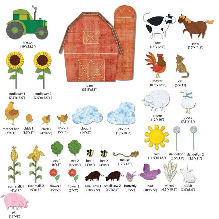 35 large farm animal fabric wall stickers make a farm themed mural in your baby or kids room in minutes FREE personalization of barn repositionable, reusable an