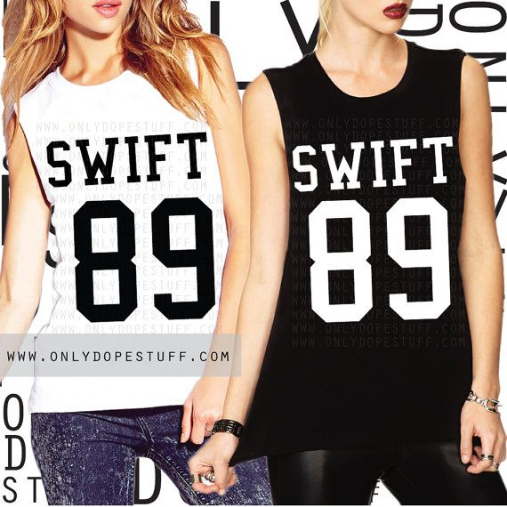 Taylor Swift 1989 Shirt Jersey Muscle Tee by OnlyDopeStuff