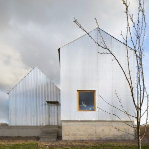 Björn Förstberg's house for his mother features pointed roofs and reflective…