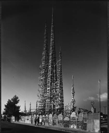 Watts Towers, Los Angeles, after 1954 :: Library Exhibits Collection