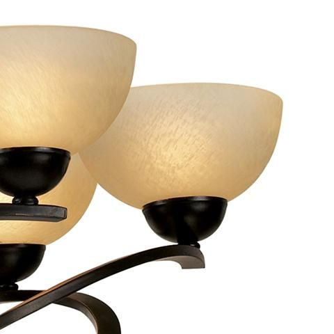 "Franklin Iron Works 27 1/2""W Dark Mocha Ribbon Chandelier - #48298 | Lamps Plus"