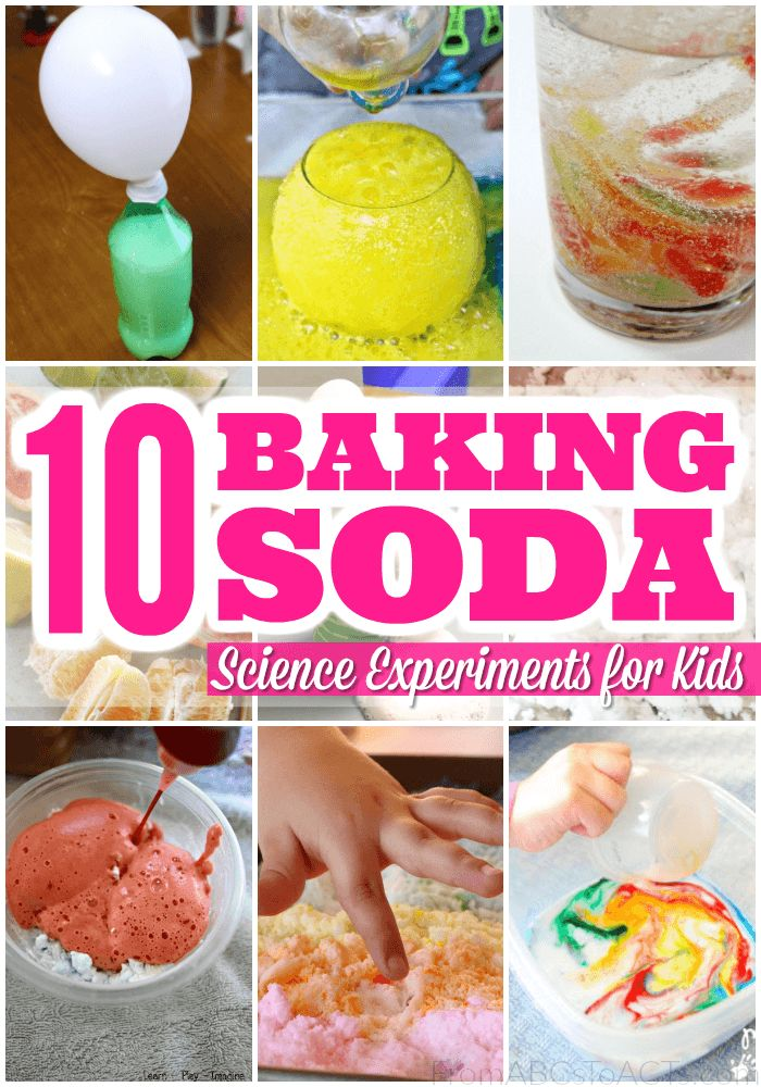 Forget the simple baking soda and vinegar reactions, these 10 baking soda science experiments are SO much cooler!