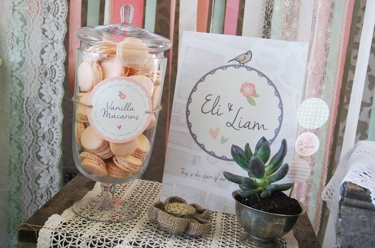 Macaroons by @yummcakes & styling by @madaboutpins