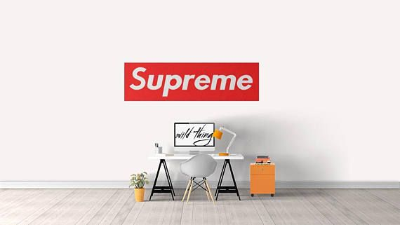 Supreme Wall Sticker Decal For Home Bedroom Decoration PALACE HYPE