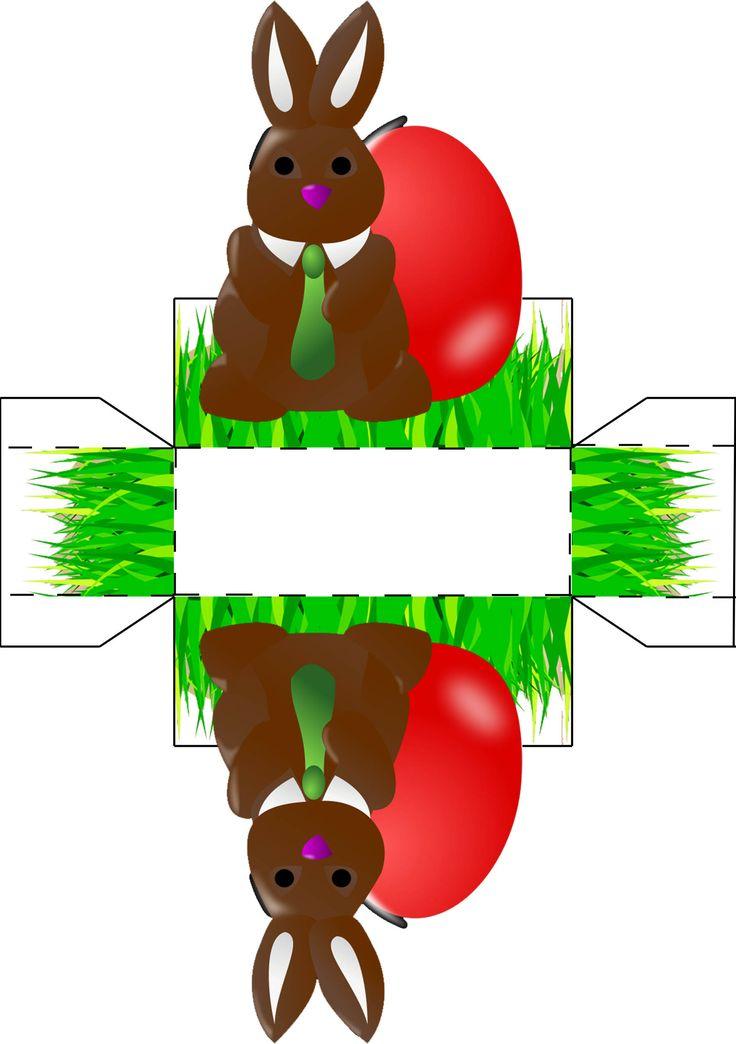 Osternest mit Osterhase zum basteln und ausmalen