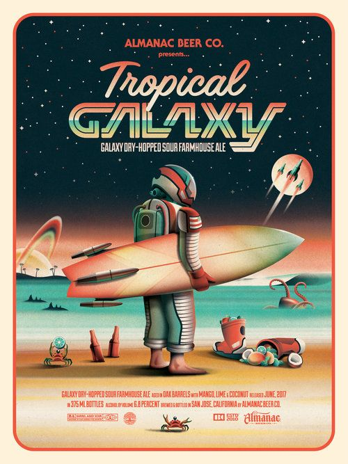 Almanac Beer Co. Tropical Galaxy Poster by DKNG
