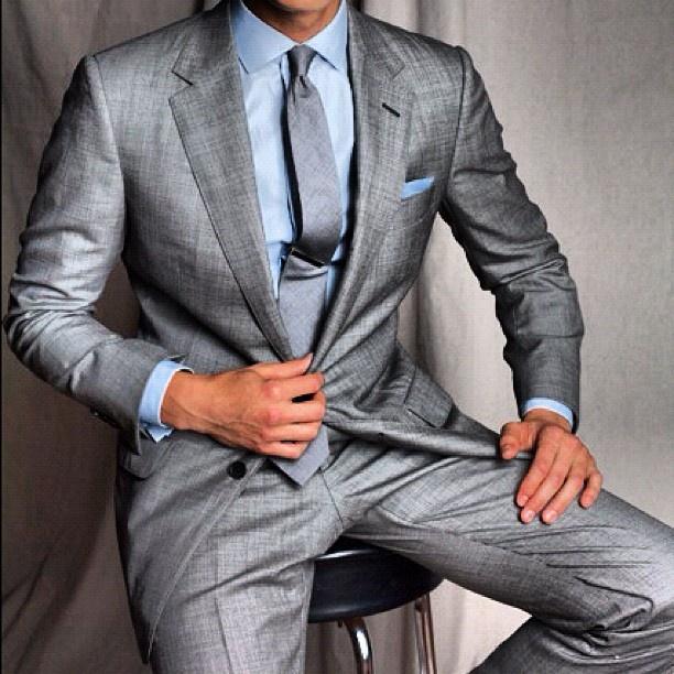 A fantastic light grey silk suit. Bespoke Attire London | Clothing ...