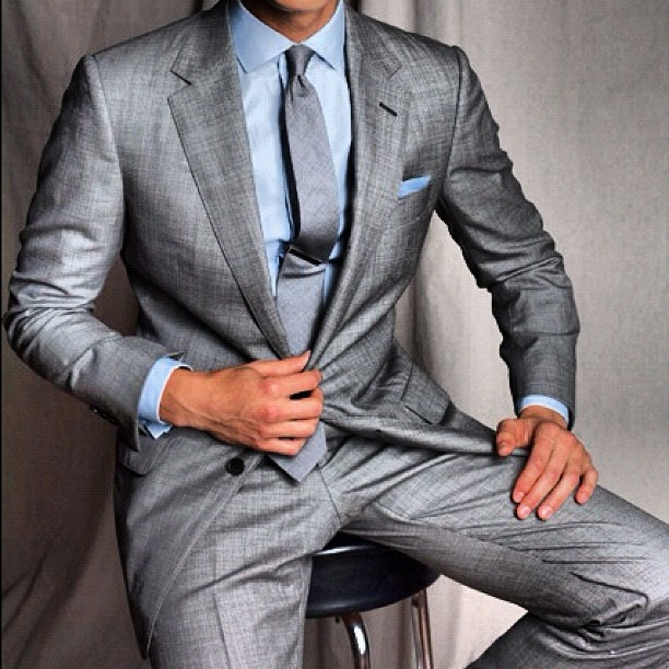 A fantastic light grey silk suit. Bespoke Attire London | Clothing