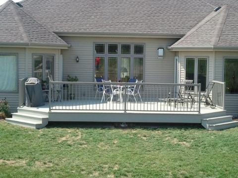 Clay Azek Decking With Taupe Regal Railing Outdoor