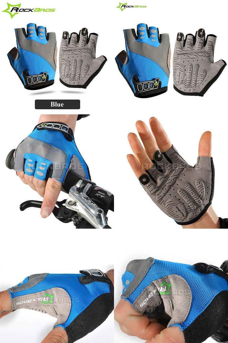 [Visit to Buy] ROCKBROS Cycling Gloves Male Breathable Anti-slip Mountain Bike Gloves Gel Pad Half Finger MTB Gloves Moto Bicycle Guantes 50 #Advertisement