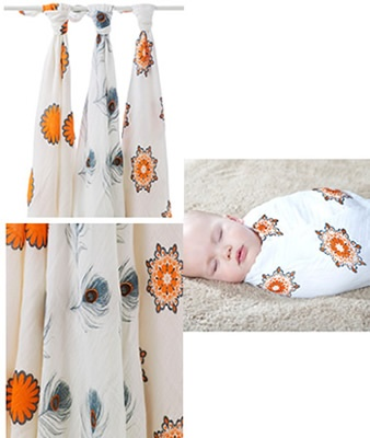 Aden and Anais BAMBOO Swaddling Blankets ~  Seriously softest (& best!) swaddling blankets EVER.