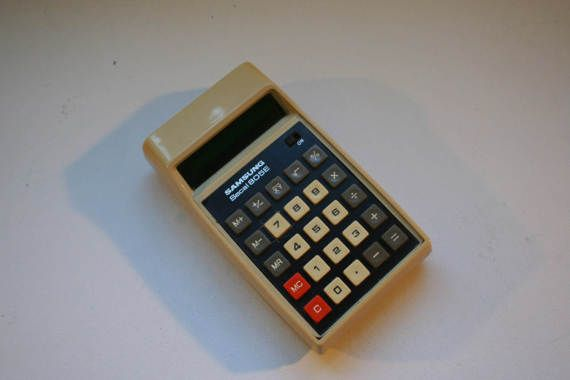 1980's Samsung calculator. by DecadesOfFunkiness on Etsy