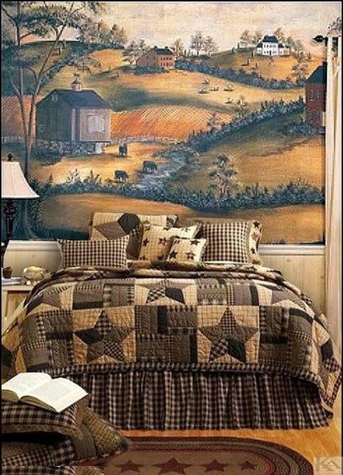 Pictura murala tapet Grazing potrivita incaperilor in care se pune accent pe stilul rustic, traditional!