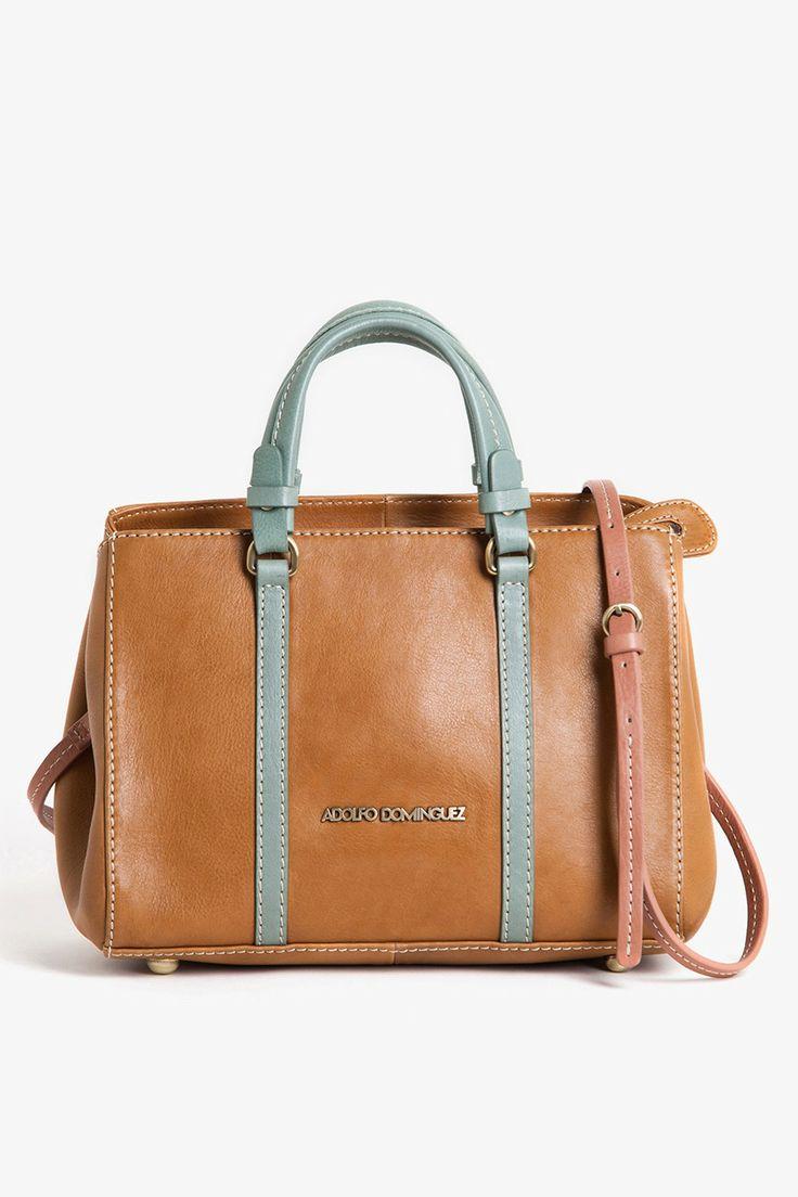 Tulip Leather Lady Bag - Hand bags | Adolfo Dominguez