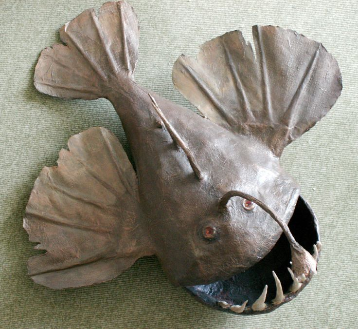 Рыбо морской черт. Папье-маше. Автор Маргарита Белова