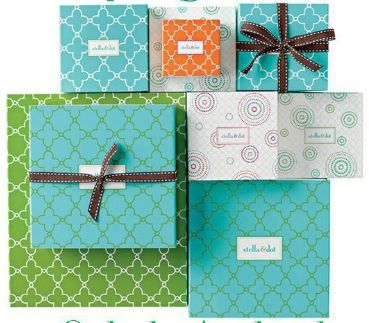 Stella and dot- these boxes are such a delight to get and open. Pretty little gifts!