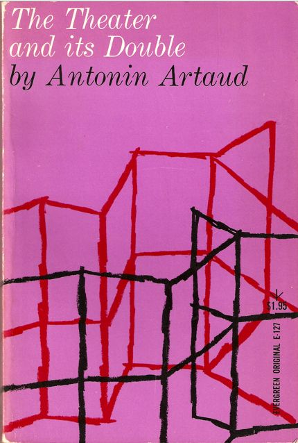 The Theater and its Double by Antonin Artaud, book cover –Roy Kuhlman