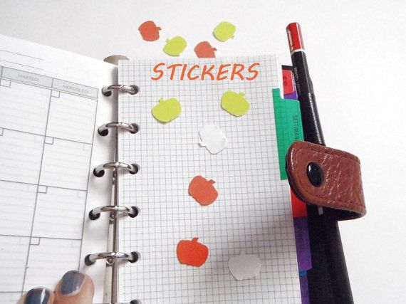 planner stickers halloween pumpkin yellow orange white decals stickers label guest book invitation envelope scrapbooking lasoffittadiste