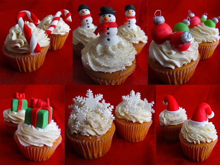 christmas cupcakes by juicy desserts :)