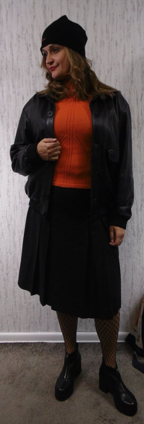 Leather Boomber Jacket by SweetSpicyVintage on Etsy