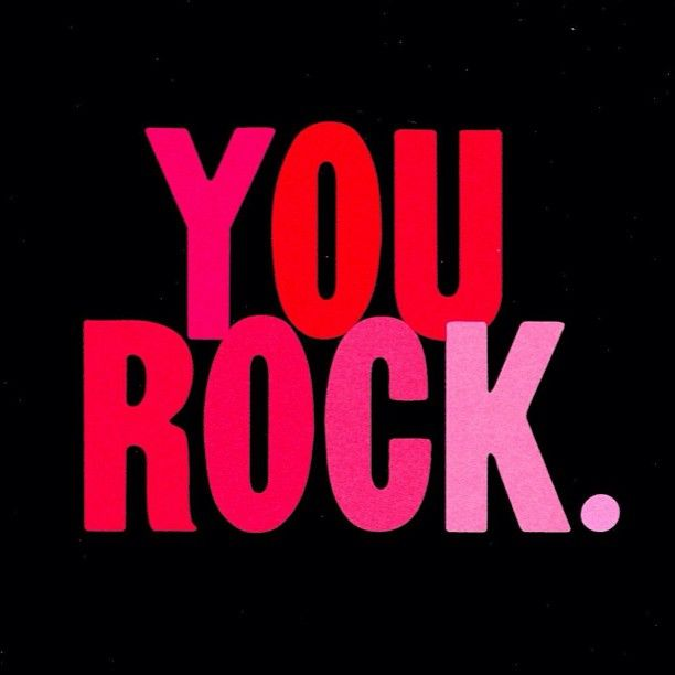 Having a bad day? Always remember YOU ROCK! #SYC