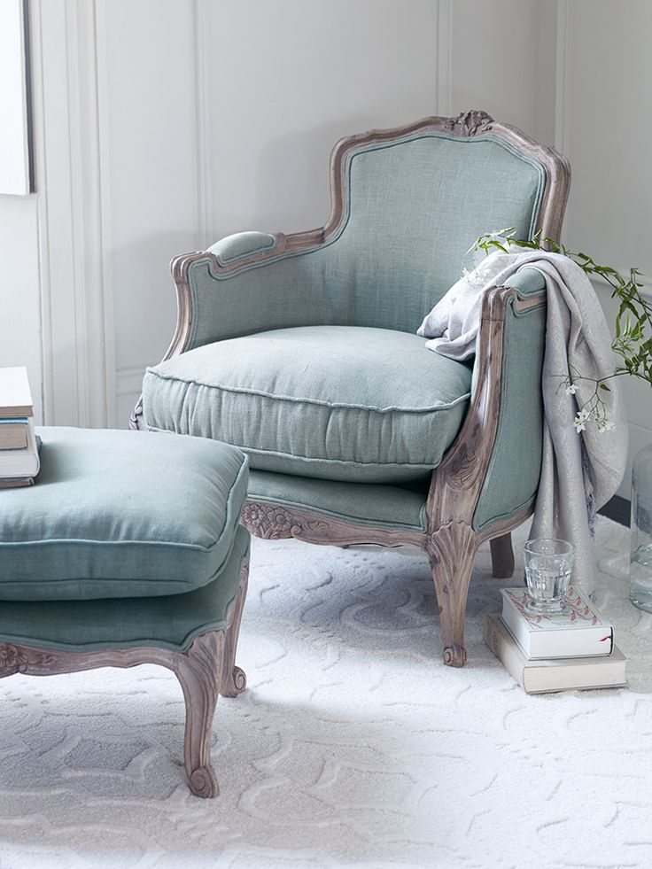 297 best chairs images on pinterest armchairs couches for Eau de nil bedroom ideas