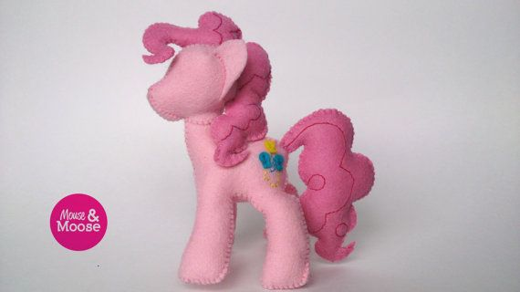 100% wool My Little Pony Pinky Pie by Mouse  Moose on Etsy. This little plush Pinky Pie is sure to delight your little one and inspire many hours of imaginative play. A perfect gift for any little girl or collector. MLP, Friendship is Magic, FIM.