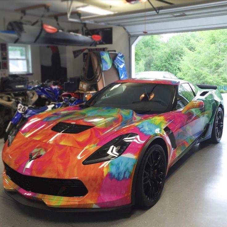 Corvette Car Vinyl Wrap Wicked Z06 C7
