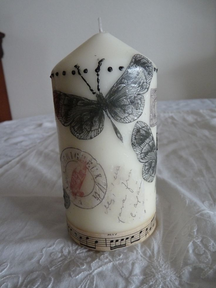 7 best Bougies shabby chic images on Pinterest Candle sticks - pose papier a peindre