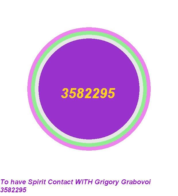 To have spirit contact with Grigory Grabovoi 3582295