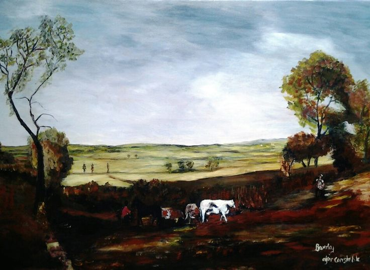 Reproduction of John Constable's 'The view of the Stour', 2013