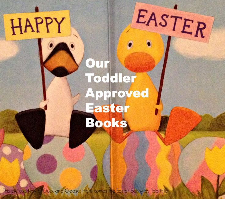 Toddler approved Easter books for toddlers and young children