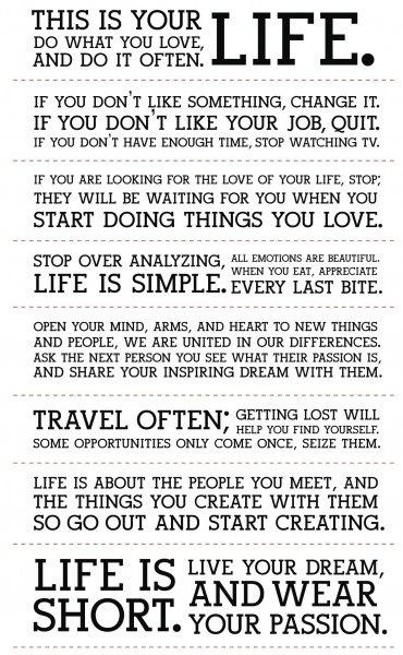 This is your life: Thoughts, Sayings, Idea, Quote Life, Life Is Short, Inspirational Quotes, Motivational Quotes, Inspiration Quotes